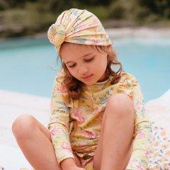 Louise Misha Baby Bathing Turban Sylvania Soft Honey Parrots ルイーズミーシャ ターバンキャップ(ソフトハニーパロット)