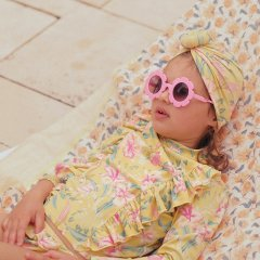 Louise Misha Bathing Turban Sylvania Soft Honey Parrots ルイーズミーシャ ターバンキャップ(ソフトハニーパロット)