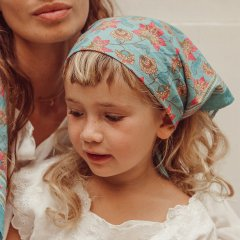 Louise Misha Small Scarf Rebha Turquoise Flowers ルイーズミーシャ スカーフ Sサイズ(ターコイズフラワー)