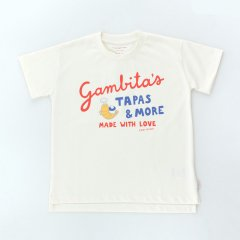 tinycottons -GAMBITA'S -GRAPHIC TEE off-white/red タイニーコットンズ ガンビタッズ グラフィック半袖Tシャツ(オフホワイト)
