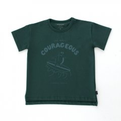 tinycottons COURA-GEOUS TEE ink blue/dark teal タイニーコットンズ カレイジャス半袖Tシャツ(インクブルー)