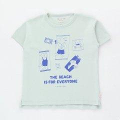 tinycottons THE BEACH TEE li-Ght blue -Grey/iris blue タイニーコットンズ ザ ビーチ 半袖Tシャツ(ライトブルーグレー)