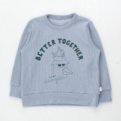 tinycottons FRIENDS TO-GETHER SWEATSHIRT summer -Grey/ink blue タイニーコットンズ フレンド トゥギャザー 長袖スウェット(サマーグレー)