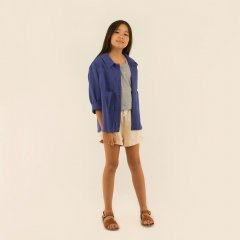 tinycottons THE BEACH IS FOR EVERYONE JACKET indi-Go タイニーコットンズ グラフィック長袖ジャケット(インディゴ)