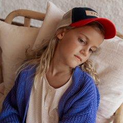 tinycottons SOLID CARDI-GAN iris blue タイニーコットンズ ローゲージカーディガン(アイリスブルー)