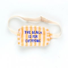 tinycottons THE BEACH IS FOR EVERYONE FANNY BA-G yellow/li-Ght cream タイニーコットンズ ストライプウエストバッグ(イエロー)