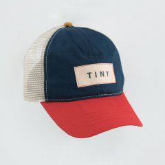 tinycottons COLOR BLOCK TINY CAP ink blue/red タイニーコットンズ ブロックタイニーキャップ(インク