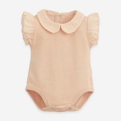 Play Up Jersey stitch body with woven details Botany EGG プレイアップ 襟付き肩フリルボディ(エッグ)