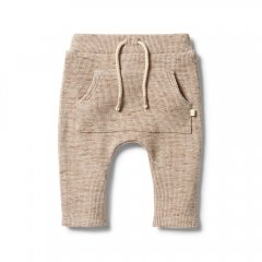 Wilson and Frenchy Waffle Slouch Pant Oatmeal Fleck ウィルソン アンド フレンチー ワッフル生地ロングパンツ(オートミール)