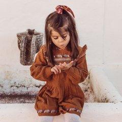 Louise Misha Baby Dress Suzie Caramel ルイーズミーシャ 長袖ワンピース(キャラメル)
