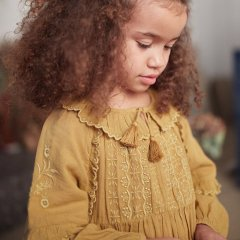 ★Louise Misha Dress Bambina Caramel ルイーズミーシャ 長袖ワンピース(キャラメル)