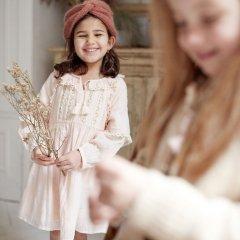 Louise Misha Baby Dress Bambina Blush ルイーズミーシャ 長袖ワンピース(ブラッシュ)