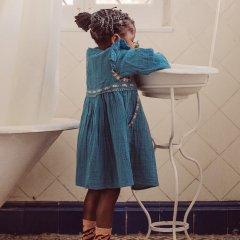 ★Louise Misha Baby Dress Bianca Blue ルイーズミーシャ 長袖ワンピース(ブルー)