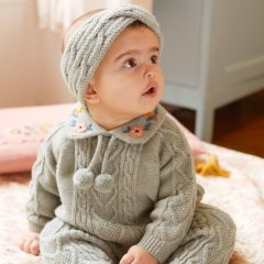 Louise Misha Baby Jumper Solange Sauge ルイーズミーシャ 襟付き長袖ニット(セージ)