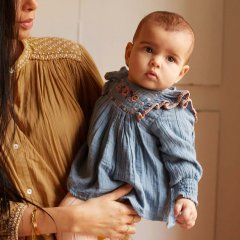 Louise Misha Baby Blouse Comette Blue ルイーズミーシャ 長袖ブラウス(ブルー)