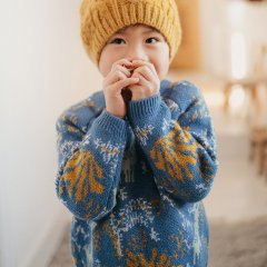 Louise Misha Baby Jumper Nico Blue Forest ルイーズミーシャ 長袖ニット(ブルーフォレスト)