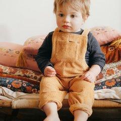 Louise Misha Baby Overalls Alfi Camel ルイーズミーシャ ロングパンツオーバーオール(キャメル)
