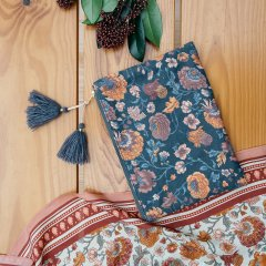 Louise Misha Pocket Domina Charcoal Bohemian Flowers ルイーズミーシャ ポーチ(チャコールボヘミアンフラワー)
