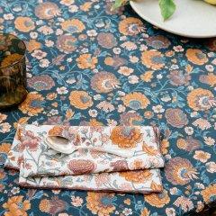 Louise Misha Table Napkin Carlotta Cream Bohemian Flowers ルイーズミーシャ テーブルナプキン(クリームボヘミアン)