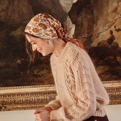 Louise Misha Scarf Romy Cream Bohemian Flowers ルイーズミーシャ スカーフ(クリームボヘミアンフラワー)