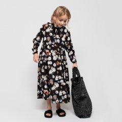 Christina Rohde Dress No.127 クリスティーナ ローデ 花柄長袖ワンピース(ブラック)