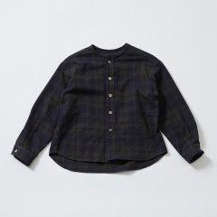 EAST END HIGHLANDERS Collarless Shirt Black イーストエンドハイランターズ カラーレス長袖シャツ(ブラック)