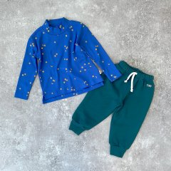 tinycottons SOLID BABY SWEATPANT stormy blue タイニーコットンズ スウェットロングパンツ(ストーミーブルー)