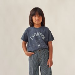 tinycottons EXPEDITION TINY TEE ink blue/foggy blue タイニーコットンズ ドッグ半袖Tシャツ(インクブルー)