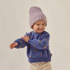 tinycottons DOGS SWEATSHIRT soft blue/honey タイニーコットンズ ドッグフェイス長袖スウェットシャツ(ソフトブルー)