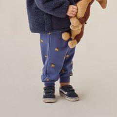 tinycottons DOGS SWEATPANT soft blue/honey タイニーコットンズ ドッグフェイスロングパンツ(ソフトブルー)