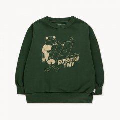 tinycottons EXPEDITION TINY SWEATSHIRT dark green/cappuccino タイニーコットンズ 長袖スウェットシャツ(ダークグリーン)