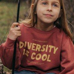 tinycottons DIVERSITY IS COOL SWEATSHIRT deep plum/bamboo yellow タイニーコットンズ テキスト長袖スウェットシャツ(ディーププラム)