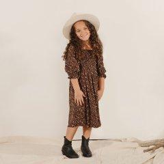 Rylee + Cru ADELAIDE DRESS WINTER BLOOM  VINTAGE-BLACK ライリーアンドクルー 花柄長袖ロングワンピース(ヴィンテージブラック)