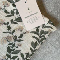 Garbo&Friends Honeysuckle Muslin  Swaddle Blanket ガルボアンドフレンズ スワドルブランケット(ハニーサックル)