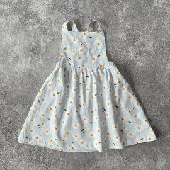 Angel Dear Daisy Corduroy Overall Dress Grey エンジェル ディア デイジー柄コーデュロイノースリーブワンピース(グレー)