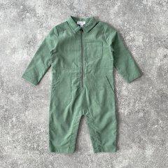 Angel Dear Hedge Green Corduroy Retro Jumpsuit Green エンジェル ディア コーデュロイジャンプスーツ(グリーン)