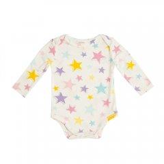 Angel Dear Dimensional Star Lap Shoulder Bodysuit MULTI エンジェル ディア 星柄長袖ボディ(マルチ)
