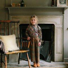 Nellie Quats Chess Trousers Redwood Tartan ネリークアーツ タータンチェック柄パンツ(レッドウッド)