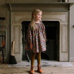 Nellie Quats Draughts Dress Heirloom Liberty Print Cotton ネリークアーツ リバティ花柄長袖ワンピース(マルチ)
