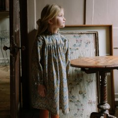Nellie Quats Marbles Dress  Aubrey Forest Liberty Print Cotton ネリークアーツ リバティ花柄スタンドカラー長袖ワンピース(マルチ)