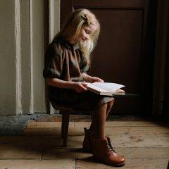 Nellie Quats Mother May I Dress  Redwood Tartan Linen ネリークアーツ 襟付きタータンチェックワンピース(レッドウッド)