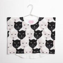 【SALE40%OFF】missie munster [ミッシーマンスター] 白黒ジャガーフェイスプリントビッグシルエットTシャツ