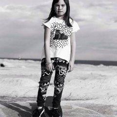 【SALE40%OFF】missie munster [ミッシーマンスター] ホワイトジャガープリント変形Tシャツ