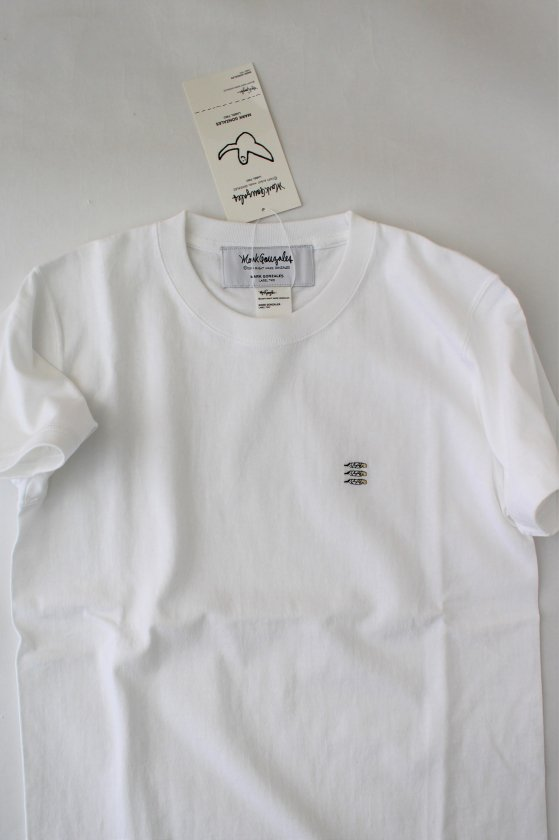 Embroidery Heavy Tee Feather WHITE