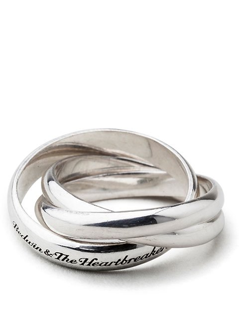 "TRIPLE SILVER RING ""MATILDA""30%off"