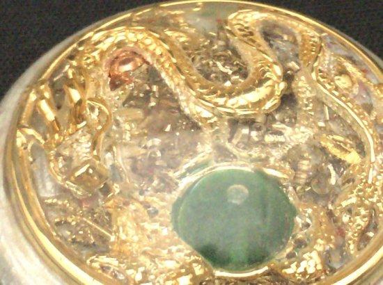 フライングドラゴン(ゴールド) オルゴナイトペンダント