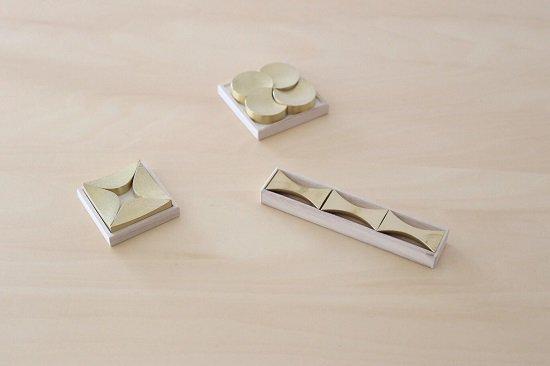 【FUTAGAMI】真鍮の箸置き(二上)