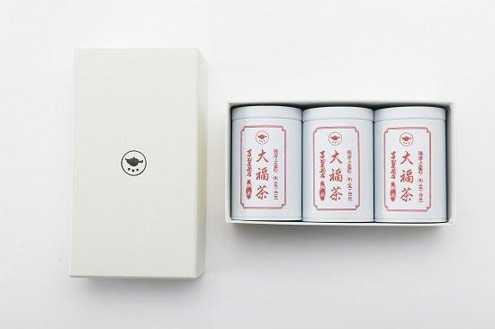 【大福茶】80g缶3本 お詰め合わせ