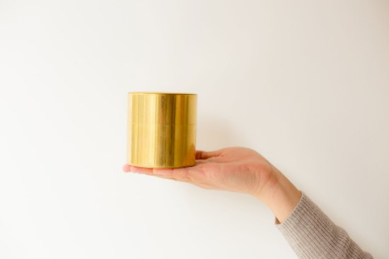 「syuro」シュロ茶缶【真鍮】(茶筒)
