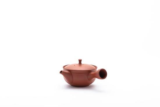 すすむ屋茶店オリジナル【常滑ろくろ急須 101】(朱)